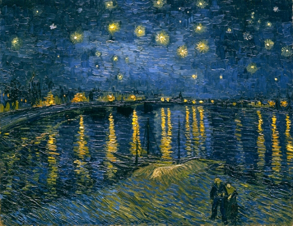 Of starry night over the rhone by vincent van gogh the original